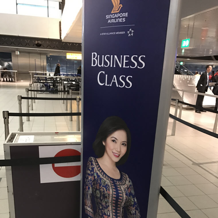 SQ Business Class Check in Counter