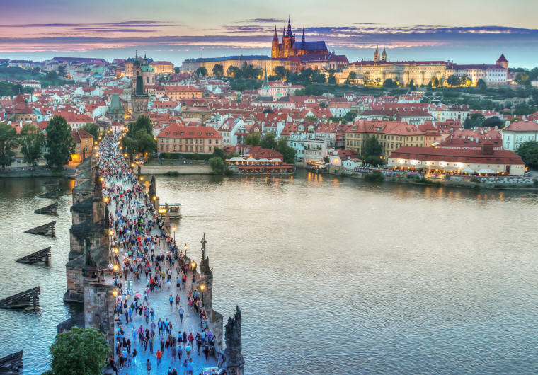 Cityscape of Prague with Castle and Charles Bridge, Czech Republic, Top 10 Destinations World 2017 Travelers' Choice Awards