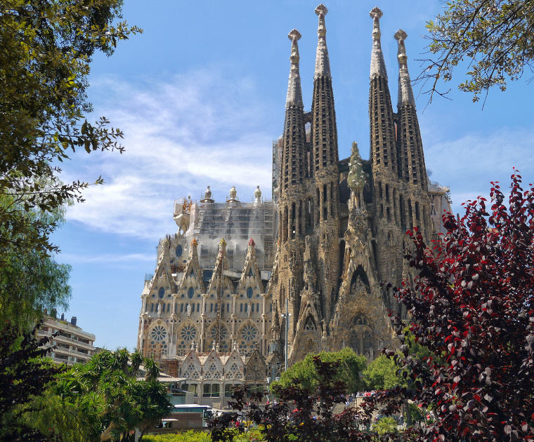 Sagrada Familia, Barcelona, Spain, Top 10 International Travel Destinations for U.S. Travelers