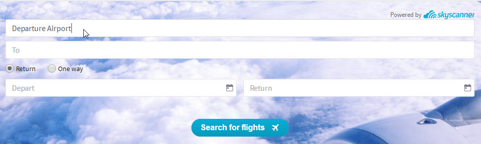 Skyscanner Search Everywhere Step 1: Type your departure point