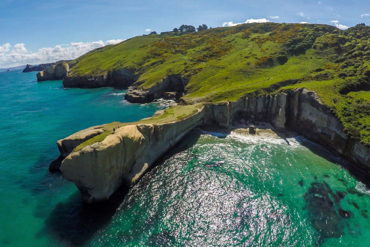 Tunnel Beach, Dunedin, New Zealand, Photo credit: DunedinNZ
