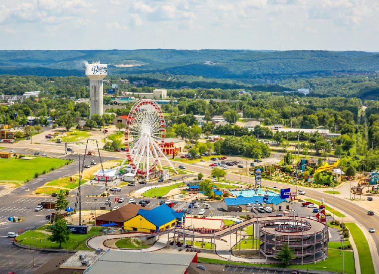 Branson Ferris Wheel, Branson, Missouri, Credit: ExploreBranson.com, Top domestic summer vacation destinations U.S. 2017