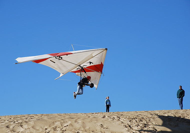 Hang Gliding in Kill Devil Hills, North Carolina, Credit: Wikipedia, Top domestic summer vacation destinations U.S. 2017