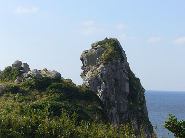 Saruiwa (monkey rock) of Iki island, Japan, Beach holiday destinations off the beaten track for summer, Photo credit: Wikipedia