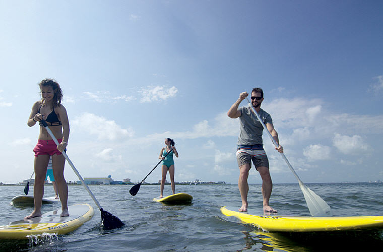 Stand Up Paddleboarding, South Padre Island, Texas, Credit: Visit South Padre, TripAdvisor, Top domestic summer vacation destinations U.S. 2017