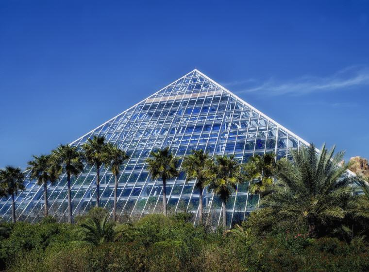 The Rainforest Pyramid at Moody Gardens, Galveston, Texas, Credit: David Mark, Top domestic summer vacation destinations U.S. 2017