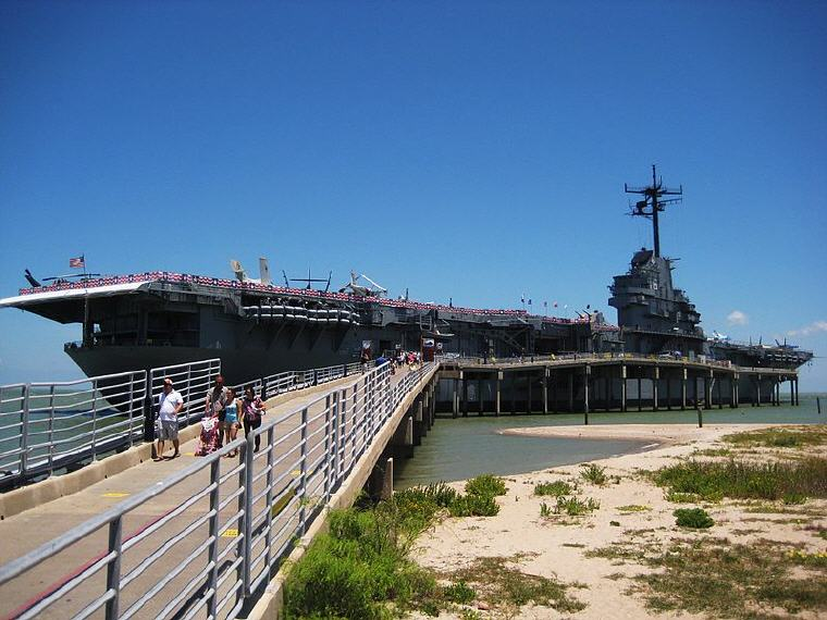 USS Lexington, Corpus Christi, Texas, Credit: Wikipedia, Top domestic summer vacation destinations U.S. 2017