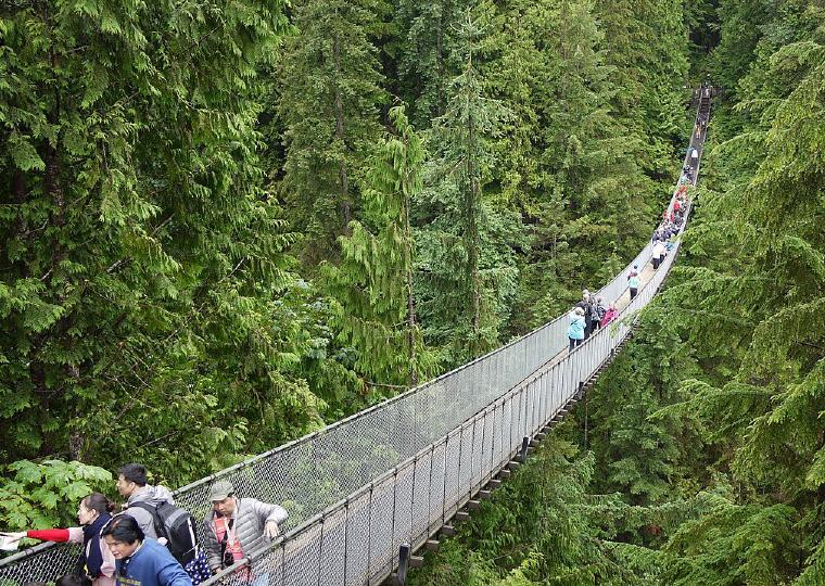 Capilano Suspension Bridge, Vancouver, Canada, Top 10 International Travel Destinations for U.S. Travelers