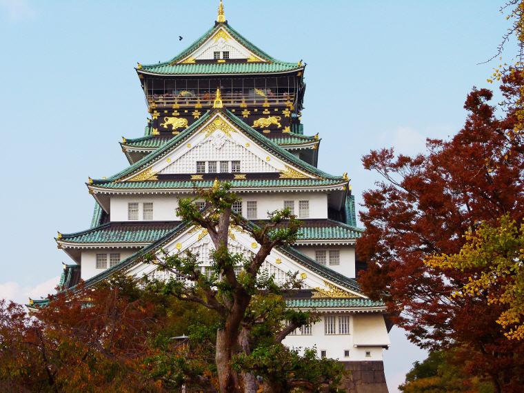 Osaka Castle, Osaka, Japan, 8 destinations with greatest price drop 2016-2017