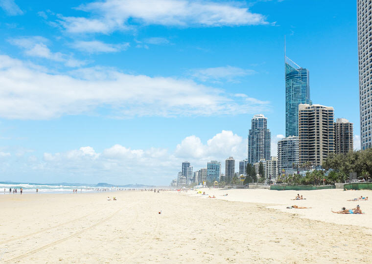Surfer Paradise, Gold Coast, Queensland, Australia, 8 Destinations with the greatest price drop 2016-2017, Photo credit: Wikipedia