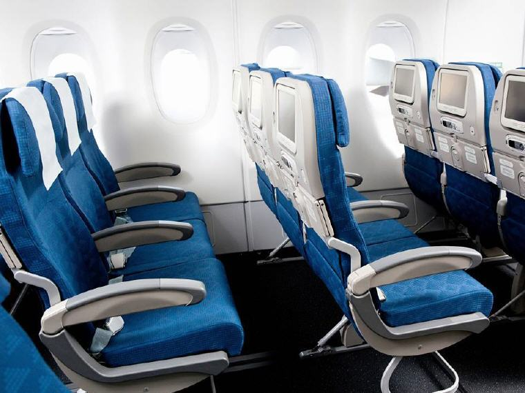 "The Economy Class on most of Korean Air's aircraft have 32-34"" pitch, offering greater comfort and relaxation, Photo credit: Korean Air"
