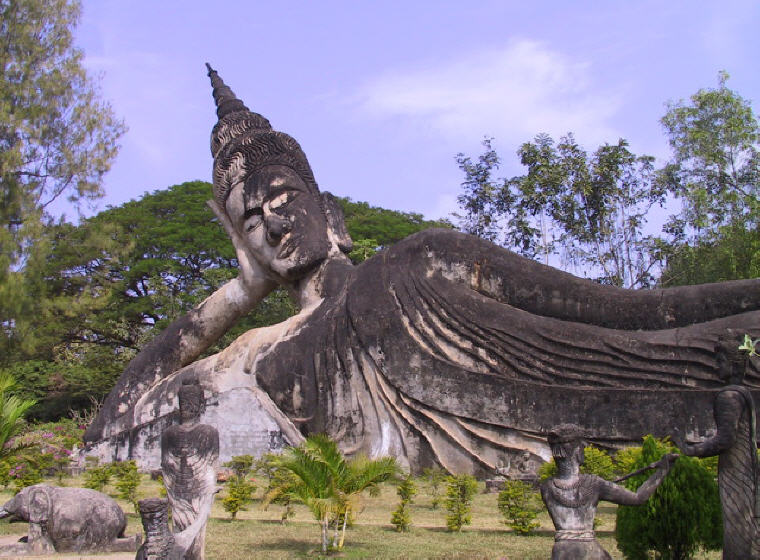 Buddha Park, Vientiane, Laos, Weekend getaways under 4 hours from Singapore, Photo credit: Wikipedia