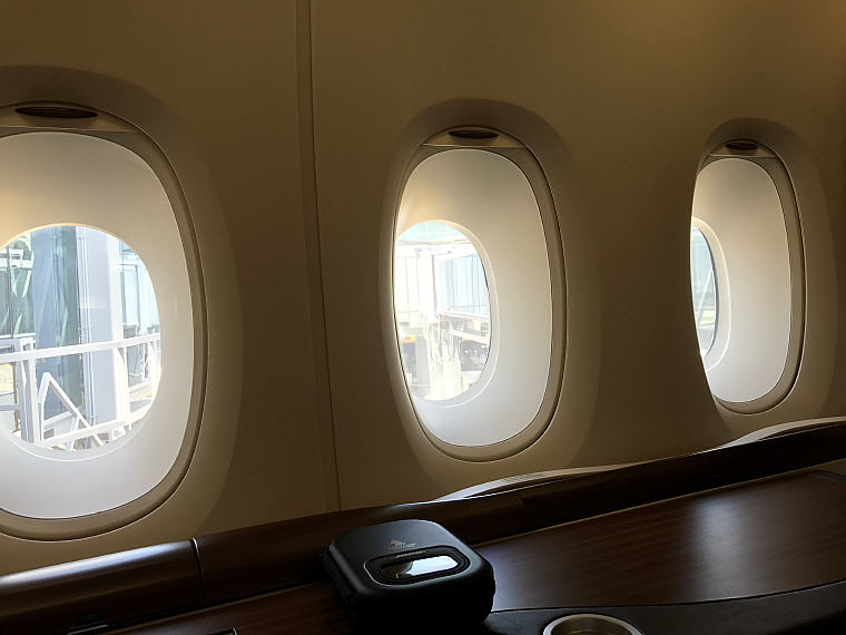 3 windows, Cabin Seat 3A, SQ863 A380 Suites Class, Hong Kong – Singapore