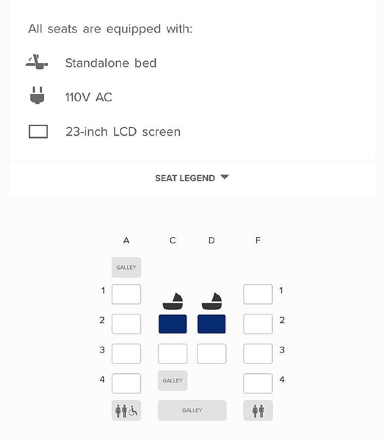 A380 Suites Class Seat Map