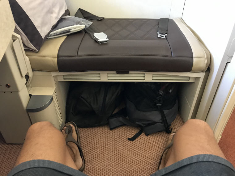 Ample space for your carry-on bags or luggage, SQ863 A380 Suites Class, Hong Kong – Singapore