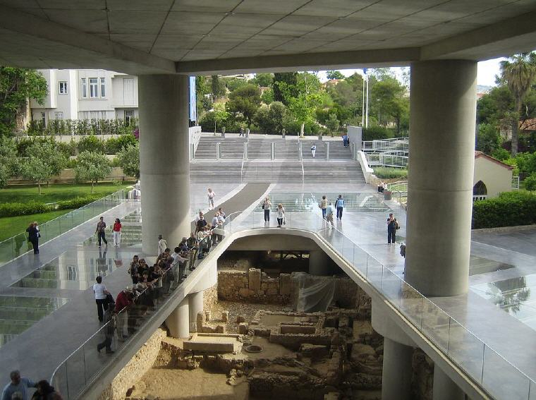 Archaeological site below the main entrance, Acropolis Museum, Photo credit: Wikipedia, Top 10 Museums World 2017 Travelers' Choice Awards