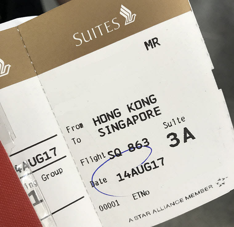 Boarding Pass, SQ863 A380 Suites Class