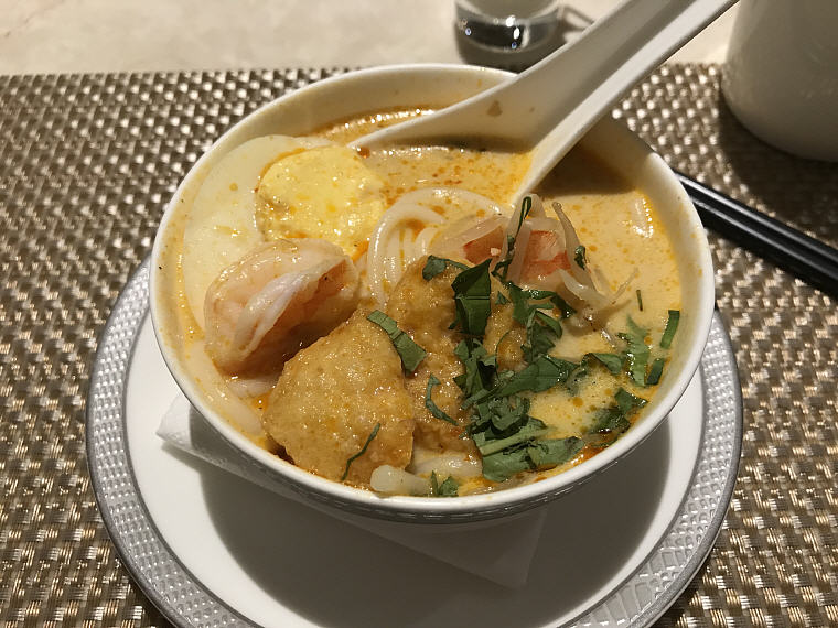 Laksa (Singaporean-style Noodle Soup), SilverKris Lounge, Hong Kong