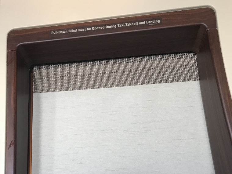 Pull-Down Blind for more privacy, SQ863 A380 Suites Class, Hong Kong - Singapore