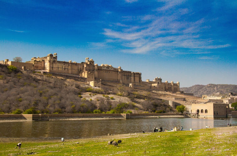 Amer Fort, also popularly known as the Amer Palace, Jaipur, India, Photo by Srshiva2, Wikipedia, , India, Cheap flights with Scoot, exclusive on Skyscanner