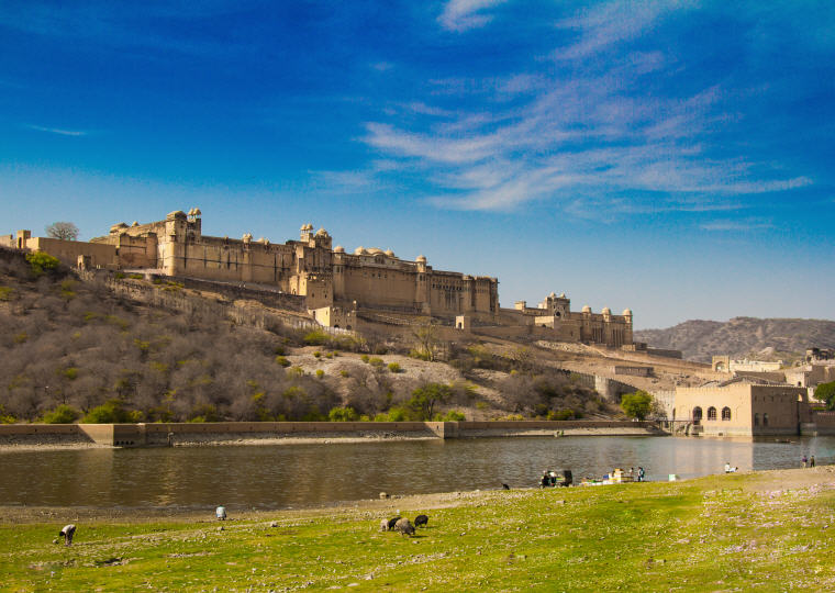 Amer Fort, also popularly known as the Amer Palace, Jaipur, India, Photo by Srshiva2, Wikipedia, 10 emerging hottest destinations to visit in 2018