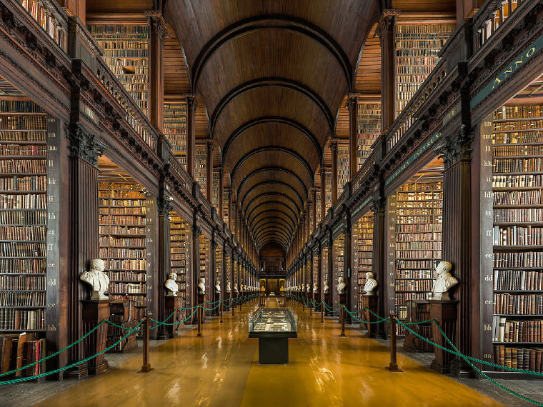 The Long Room of the Old Library at Trinity College, Dublin, Ireland, Photo by Diliff, Wikipedia, 10 emerging hottest destinations to visit in 2018