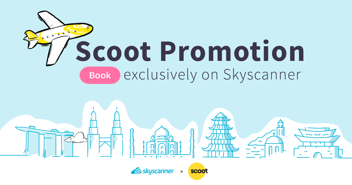 Exclusive Scoot deals flight promotion on Skyscanner
