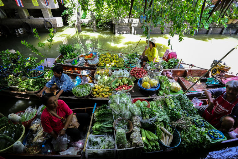 Boat vendors bringing their fresh produce to Khlong Lat Mayom Floating Market in Bangkok, What to Do in Bangkok: 5 Insider's Tips by Local Experts