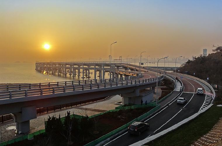 Xinghai Bay Bridge, Dalian, China, Cheap flights with Scoot, exclusive on Skyscanner