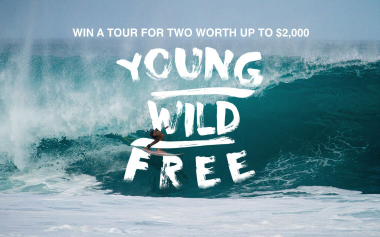 Young, Wild and Free Contest, Win a trip for 2 Thailand or Indonesia