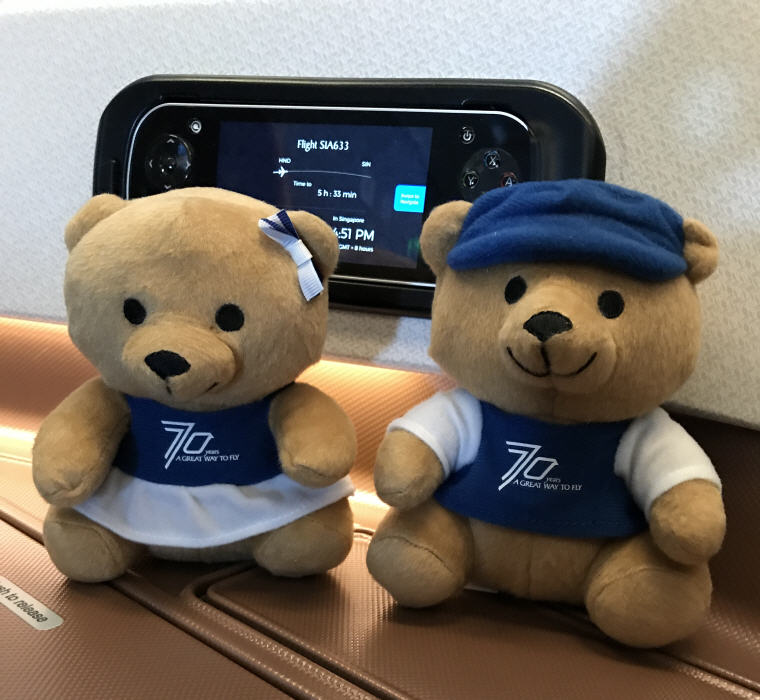 SQ 70th Anniversary Bears, SQ 633 A350 Business Class Experience Tokyo - Singapore