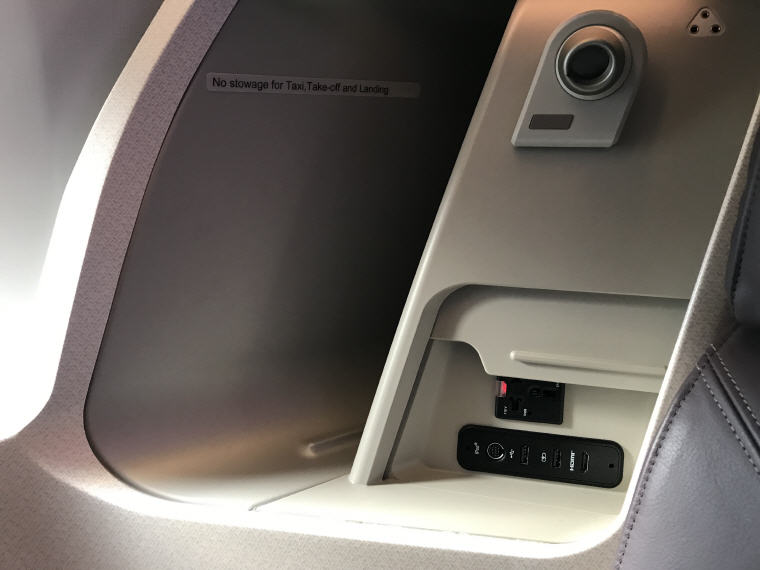 Storage around ur seat, SQ 633 A350 Business Class