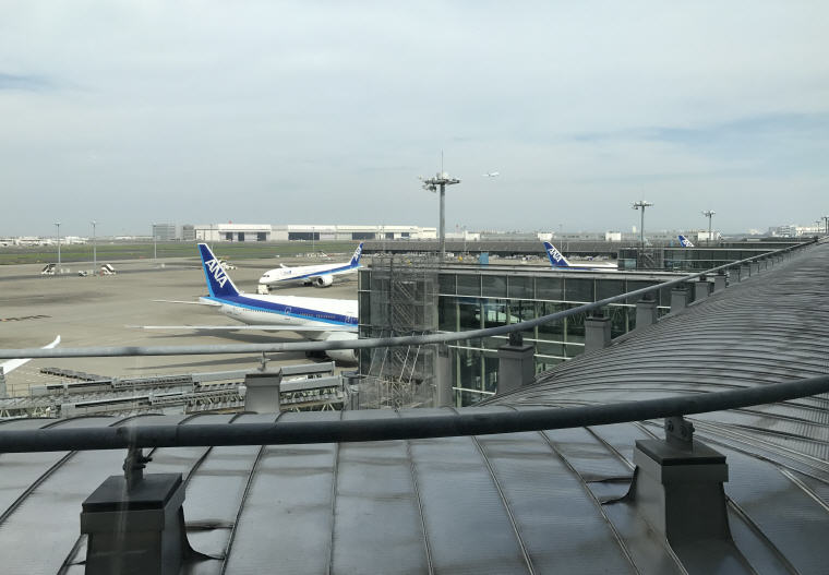 View from ANA Lounge, SQ 633 A350 Business Class Experience Tokyo - Singapore