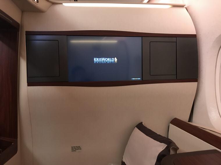 TV, SQ 231 A380 Suites Class Experience Singapore - Sydney