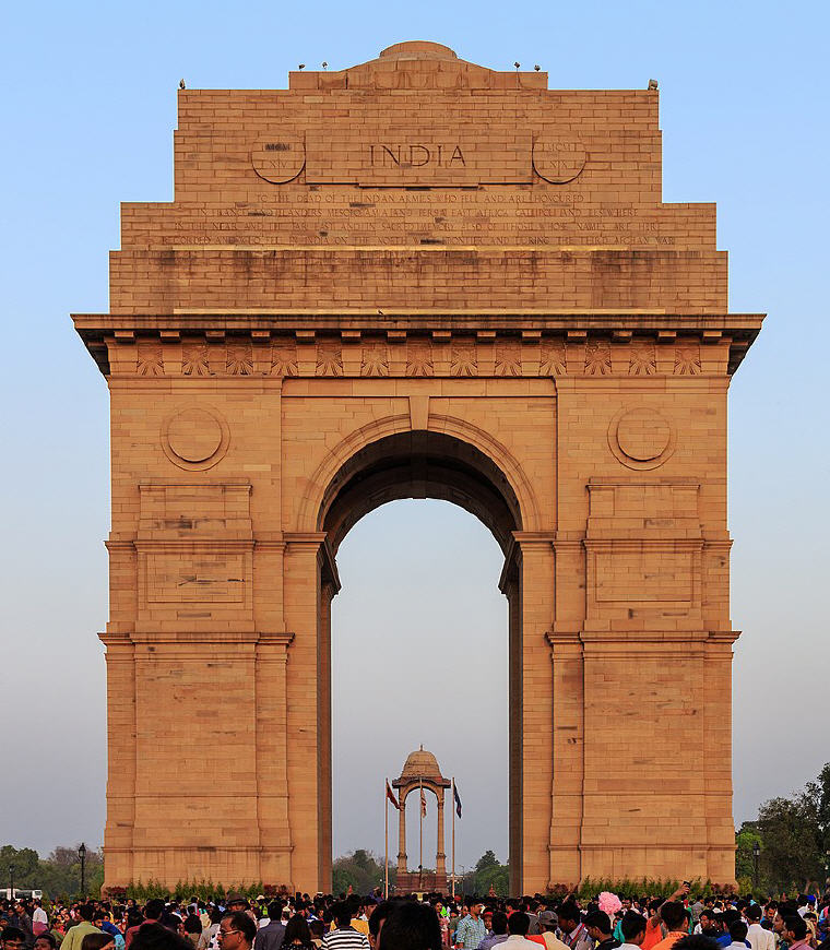 India Gate, New Delhi, India, 25 best rated destinations in the world 2018, Photo credit: A.Savin, Wikipedia