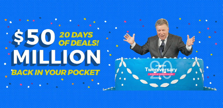 Priceline Birthday Celebration, 20 days of deals, $50 Million in Savings