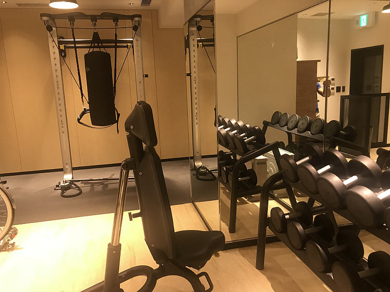 Dumbbells, GYM, MOXY Osaka Honmachi by Marriott