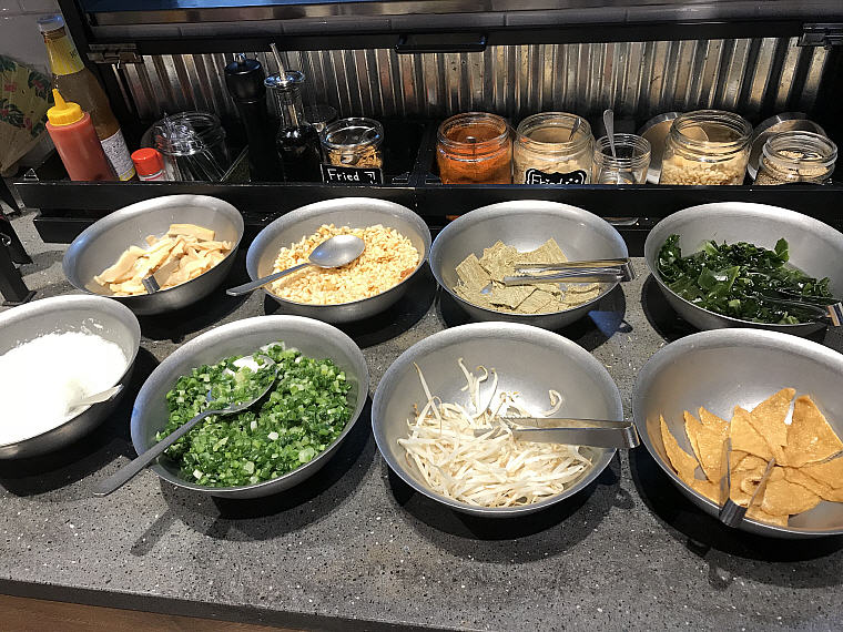 Garnishes for the Udon and Ramen, Noodle Buffet, MOXY Osaka Honmachi