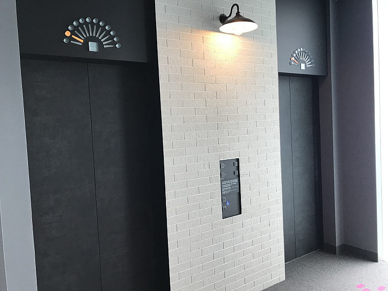 Lifts serving hotel guests in all the 155 rooms, MOXY Osaka Honmachi