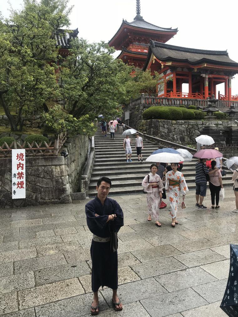 Me in Kimono at Kiyomizu Temple, 6 Days 5 Nights Osaka, Kyoto and Tokyo Trip Itinerary
