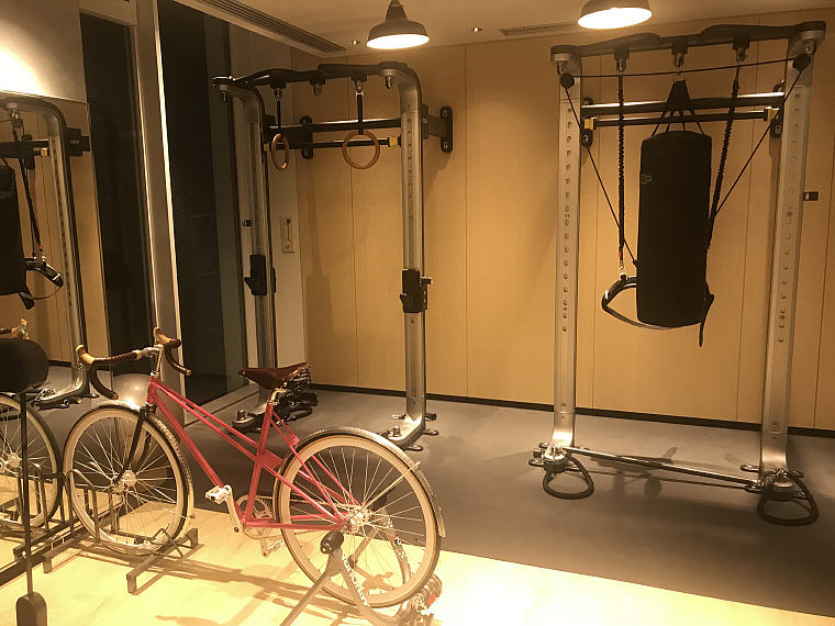Pink Bicycle, GYM, MOXY Osaka Honmachi by Marriott