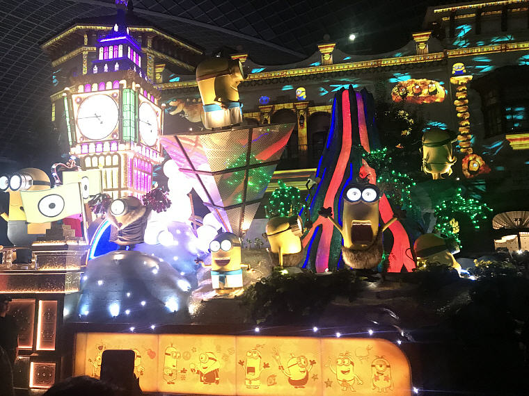 The Minions and their spectacularly fun party, Night Parade, Universal Studio Osaka