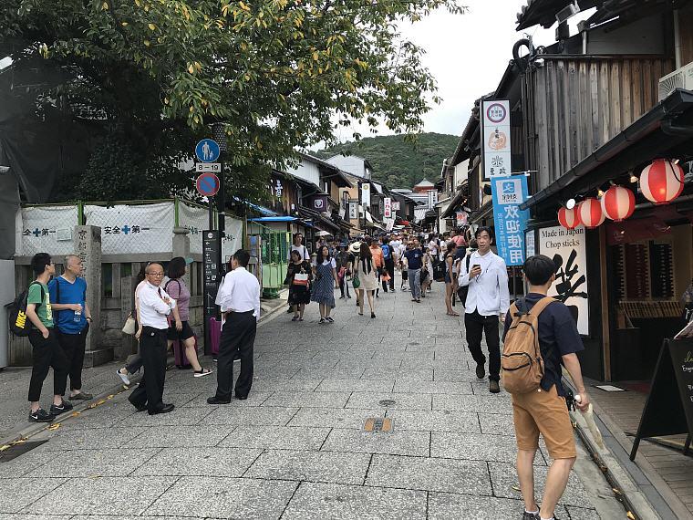 Walking to Kiyomizu Temple, Kyoto