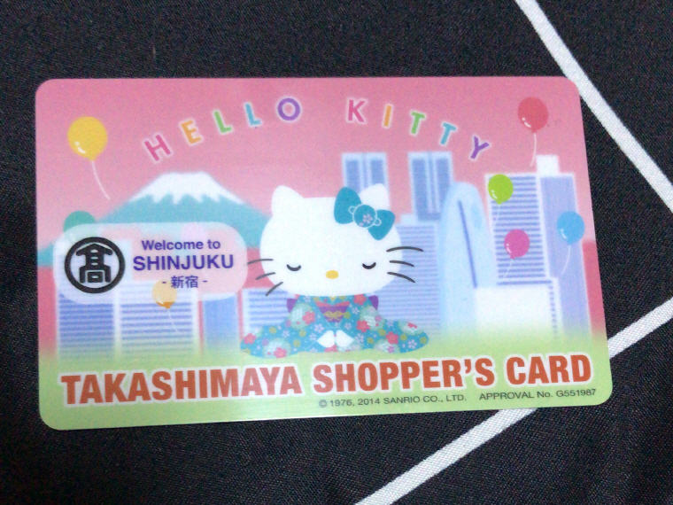Hello Kitty Takashimaya Shopper's Card, 6 Days 5 Nights Osaka, Kyoto and Tokyo Trip