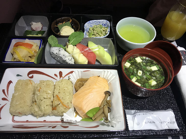 Breakfast, JAL Business Class BKK to KIX