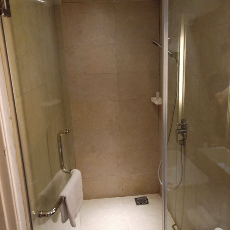 Clean and dry shower room