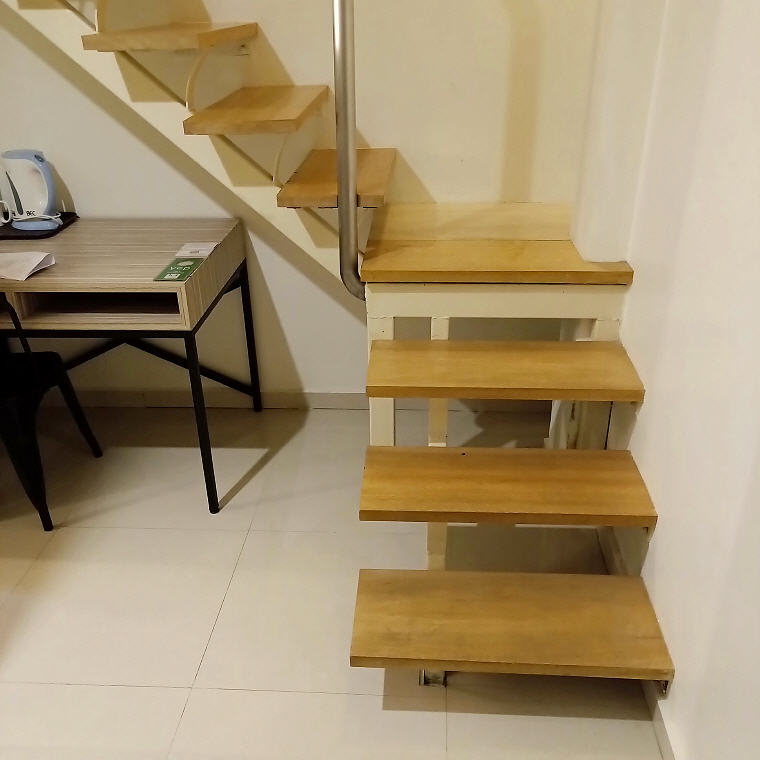 Stair leading to the bed, Loft