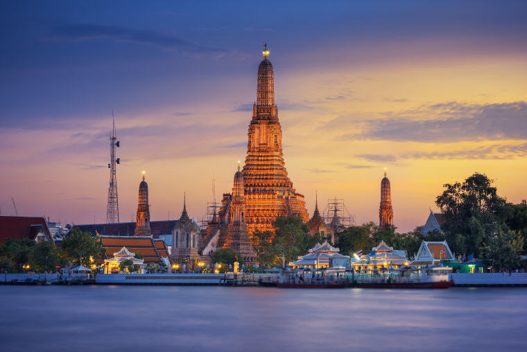 Wat Arun or the Temple of Dawn in Bangkok
