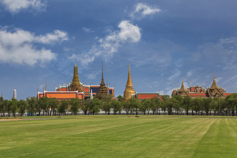 Wat Phra Kaew or the Temple of the Emerald Buddha in Bangkok
