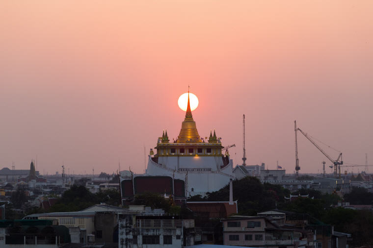 Wat Saket or the Golden Mount in Bangkok
